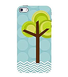 animated tree in polka dot and stripes pattern 3D Hard Polycarbonate Designer Back Case Cover for Apple iPhone 4