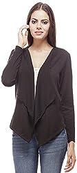 Peptrends Women's Regular Fit Shrug (SH15201BK_M, Black, M)