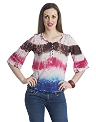 Bohemian You Women's Blouse Top (multicolourtyedyeblouse_Mulitcolor_Small)