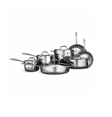 Tramontina Tri-ply Clad Stainless Steel Cookware Set - 12 Pcs. 18/10 Stainless Steel & Induction Ready (Triply Cookware compare prices)
