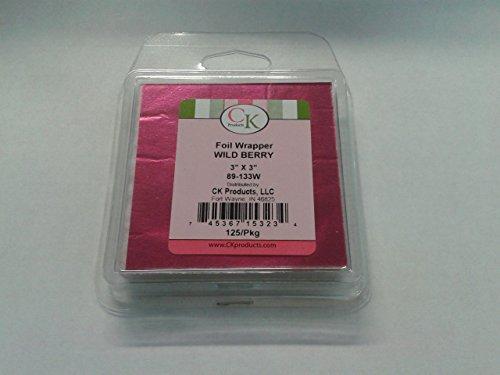 Moule en silicone 3x 7,6cm Aluminium Wrapper cadeau idéal pour chocolat/Sweet, Lot de 125, Wild Berry