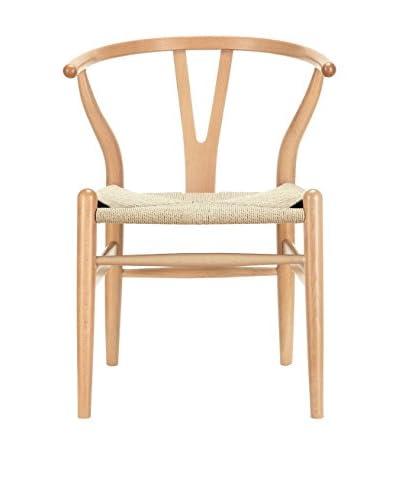 Macer Home Wishbone Chair, Natural