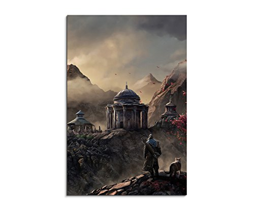 aegon-fantasy-art-90-x-60-cm-canvas-picture-art-print-as-schoener-on-real-canvas-as-a-wall-picture-o