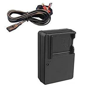 Mains Battery Charger for Panasonic Lumix DMC-FS4, DMC-FS6, DMC-FS7, DMC-FS8, DMC-FS9, DMC-FS10, DMC-FS11, DMC-FS12, DMC-FS15, DMC-FS25 and DMC-FH22 Digital Cameras - Replacement for Panasonic Quick Charger DE-A59, DE-A60, DE-A60B for DMW-BCF10E, DMW-BCF10 Battery - AAA Products®
