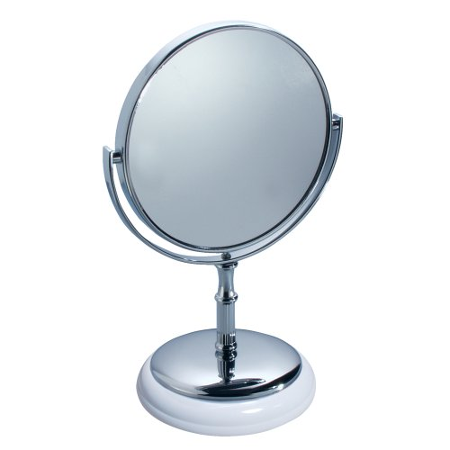 White Vanity With Mirror front-31298