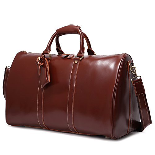 Mens Genuine Leather Overnight Travel Duffle Weekend Bag 100% Cowhide Holiday | EBay
