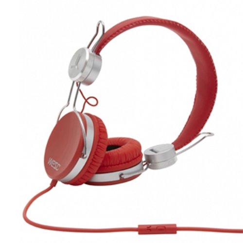 Wesc 0007193468 Banjar Headphones With Mic, True Red