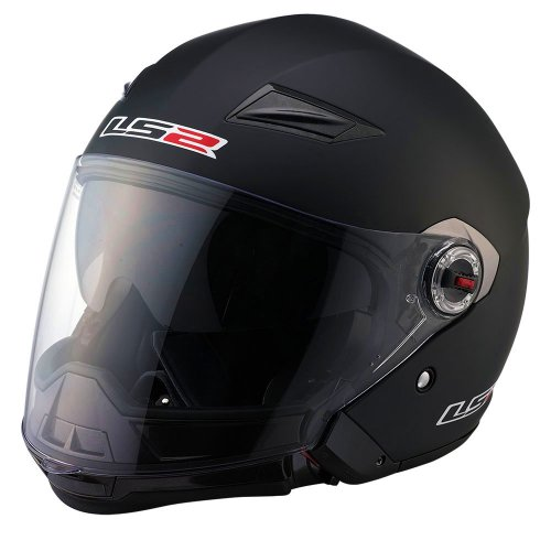 LS2 OF569 Scape Solid Open Face Helmet(Matte Black, X-Large)