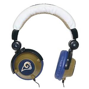 NFL St. Louis Rams Team Logo DJ Headphone by Zeikos