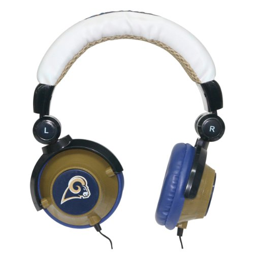 NFL St. Louis Rams Team Logo DJ Headphone at Amazon.com