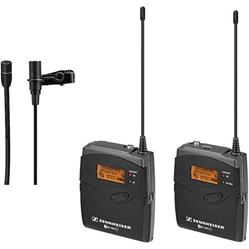 Sennheiser Ew 112-P G3 Camera Mount Wireless Microphone System, A:516-558 Mhz, Includes Ek100 G3 Receiver, Sk100 G3 Transmitter, Me2 & Bonus Mke 2-Ew Clip-On Mic