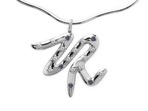 Zandra Rhodes 9ct White Gold Topaz, Aquamarine & Diamond Necklace