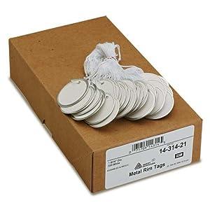 Avery Dennison 14314 Metal Rim Tag, 1-9/16 in. Diameter, 500/BX, White