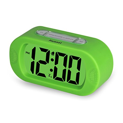 plumeet easy setting travel alarm clock with silicone protective cover digita. Black Bedroom Furniture Sets. Home Design Ideas