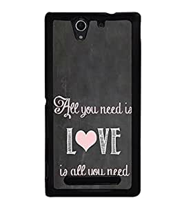 Love Quote 2D Hard Polycarbonate Designer Back Case Cover for Sony Xperia C3 Dual :: Sony Xperia C3 Dual D2502