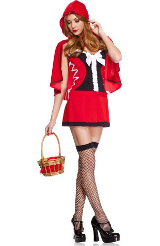 2 PC. Red Hot Riding Hood Dress