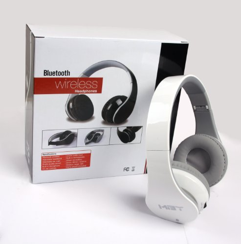 With NFC --- HiFi White Bluetooth Headphone headset with NFC function for Samsung Android smart cell phone; Apple Phone and almost all Tablet PC which have bluetooth TOPOO Bluetooth Headsets autotags B00H3JMDX8