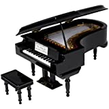 SUNRISE SOUND HOUSE サンライズサウンドハウス ミニチュア楽器 グランドピアノ 18cm 黒