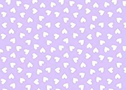 SheetWorld PC5B-w529 Fitted Portable / Mini Crib Sheet - Hearts Pastel Lavender Woven - Made In USA