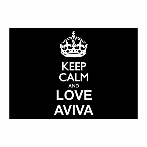 teeburon-keep-calm-and-love-aviva-sticker-pacchetto-di-4