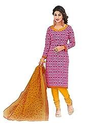 Gugaliya Women's Unstiched Superior Cotton SALWAR,KAMEEZ & DUPATTA Suit ( P506 )