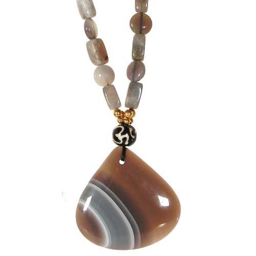 Remembering Tibetan Refugees Necklace Naga Land Tibet Sacred Stones Amulet