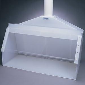 "Bel-Art Scienceware 500000000 Polypropylene Acrylic Fabricated Fume Hood, 48"" Length x 24"" Width x 36"" Height"