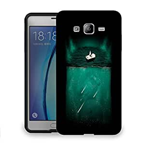 Snoogg Bed On Water Designer Protective Back Case Cover For SAMSUNG ON 7