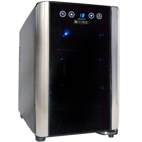 +LOUNGE タッチパネル&UVカット仕様 6本収納ワインセラー LNE-W306B