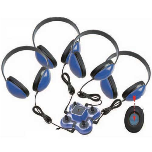 Califone 1114BL-4 4-Position Wired Listening First Listening Center (Blue) (Listening Center Califone compare prices)