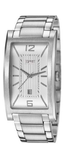 ESPRIT Collection EL101851F01 - Reloj analógico de cuarzo para hombre, correa de acero inoxidable color plateado
