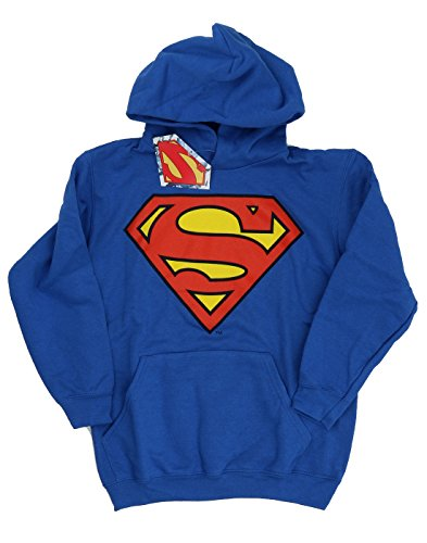 DC Comics Bambini e ragazzi Superman Logo Felpa con cappuccio 9-11 Years Blu reale