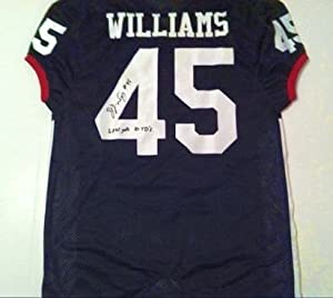 DJ WILLIAMS ARKANSAS RAZORBACKS AUTOGRAPHED JERSEY by The+Sports+Mix