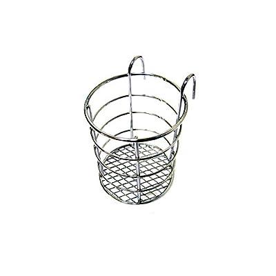 Steel Wire Sink Basket Cutlery Holder Cooking Utensils Storage Kitchen Rack