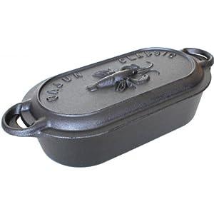Cajun Cookware Pots With Crawfish Lid 8 Quart Cast Iron Casserole Pot
