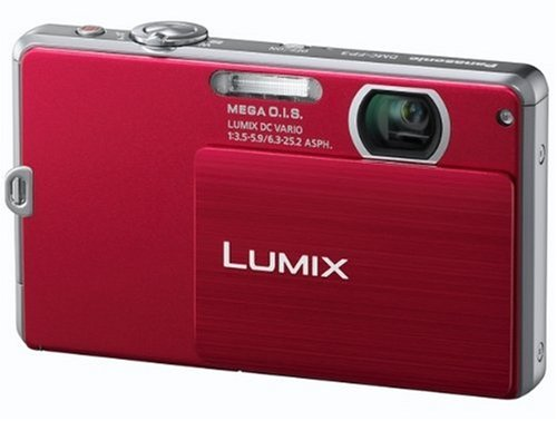 Panasonic Lumix FP3 Digital Camera - Red (14.1MP, 4x Optical Zoom) 3 inch Touchscreen LCD