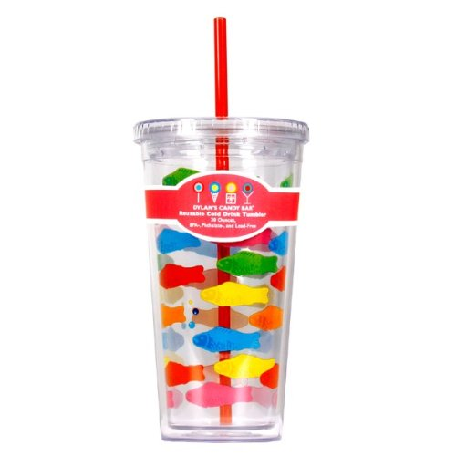 Dylan's Candy Bar Tumbler with Straw - Swedish Fish