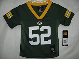 2012-2013 Season Clay Matthews Green Bay Packers Green NFL Toddler Jersey