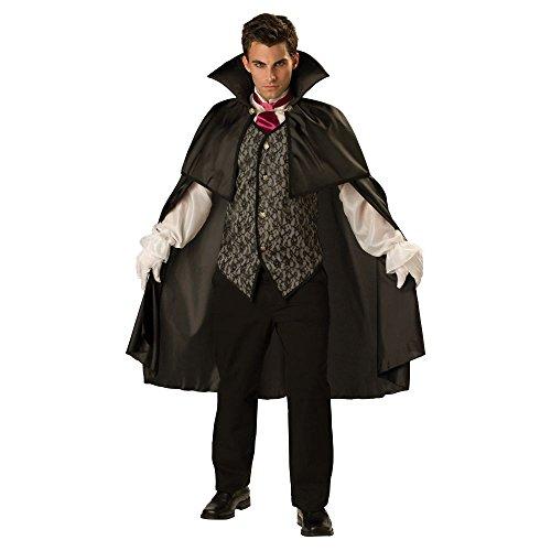 [Midnight Vampire Costume - Large - Chest Size 42-44] (Women Homemade Vampire Costume)