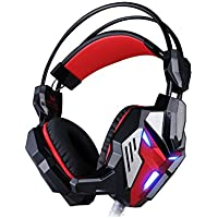 HIGHOT EACH G3100 Stereo Pro Gaming Headset Bass USB Headphone With Microphone LED Light Built-in Vibration Function...