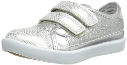 Step2wo Girls Laney Boat Shoes 208774B Silver Glit/PU L 10 UK Child, 28 EU, 10.5 US Child, Regular