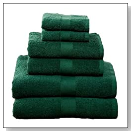 6 Piece Towel Set Hunter Green