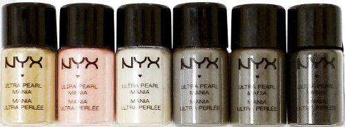 "NYX Cosmetics Loose Pearl Eyeshadow Pigment ""Smokey"" Set"