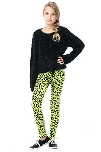 Girls Neon Animal Print Leggings - Sizes XS to Large