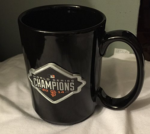 San Francisco Giants World Series Champions 2014 All Black Coffee Mug With Metal Logo