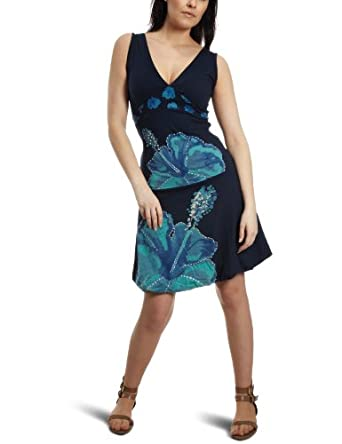 Desigual Womens Annette Dress Blue 11V28375001L Size 14