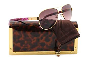 Tory Burch Ty6010 (57) Sunglasses TY6010 360/14 Gold Pink Vase Brown Rose 57 14 135