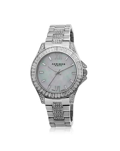 Akribos XXIV Women's AK670SS Silver Stainless Steel Crystal Watch