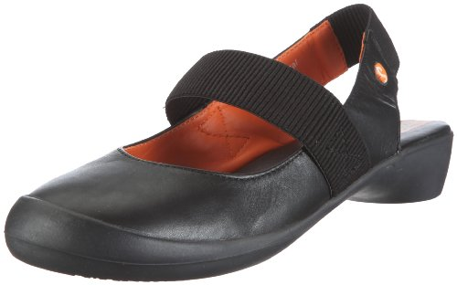 Softinos Women's Frieda Black Slingback Flat P900048022 3 Uk