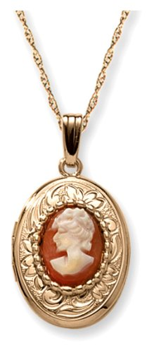 14k Yellow Gold Filled Cameo Locket, 18""